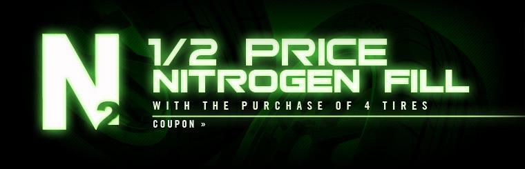 Click here to get half price nitrogen service with the purchase of four tires.